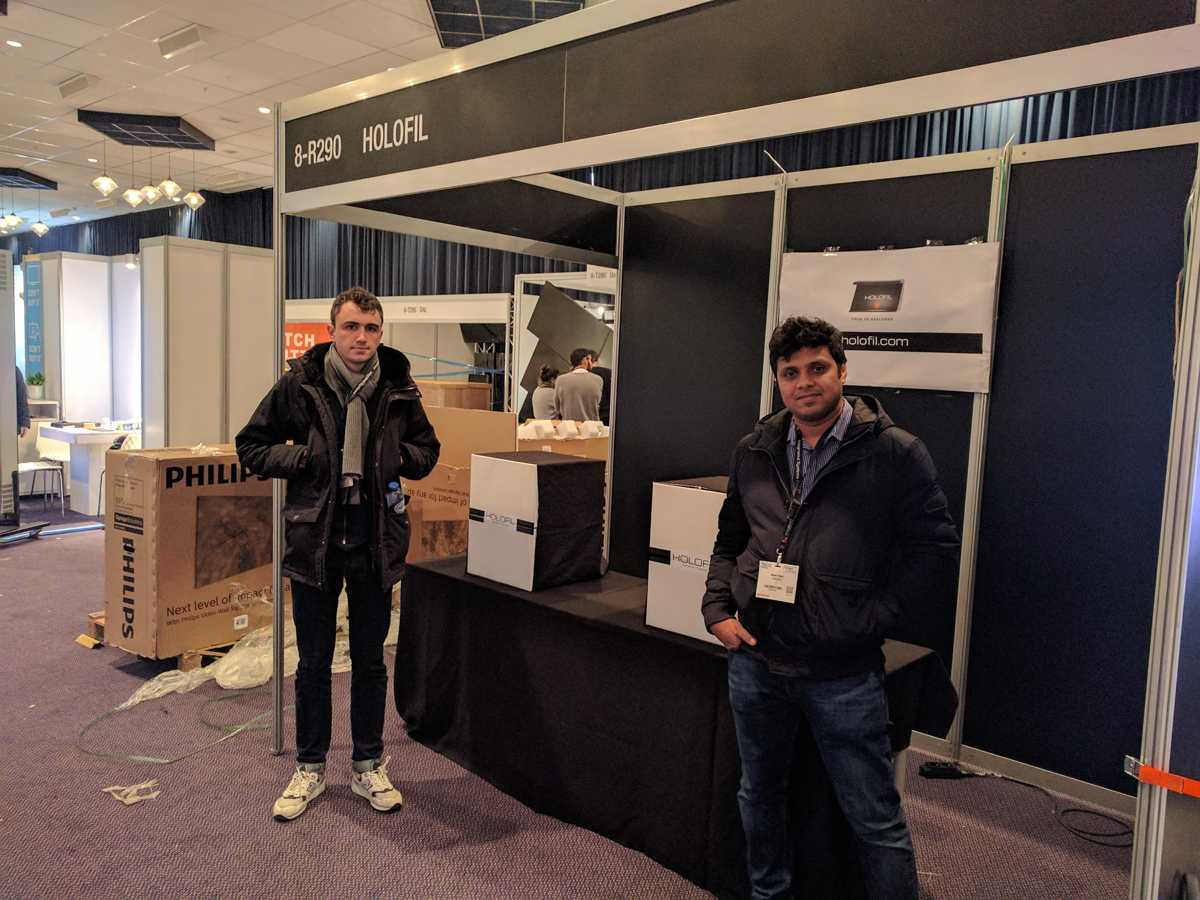 Booth setup at ISE 2018