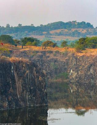 The stone quarry at the Vetal Tekdi