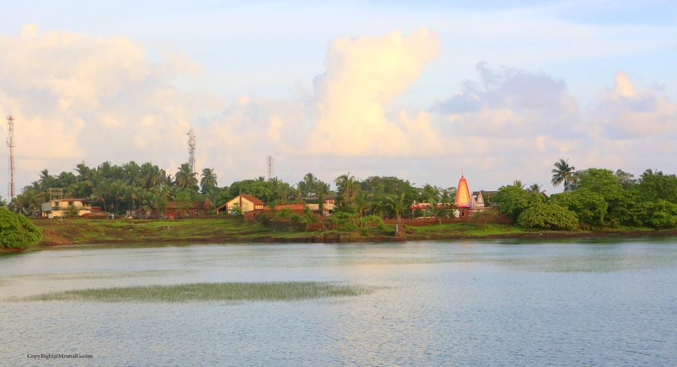 Ganesh mandir at Talebajar lake