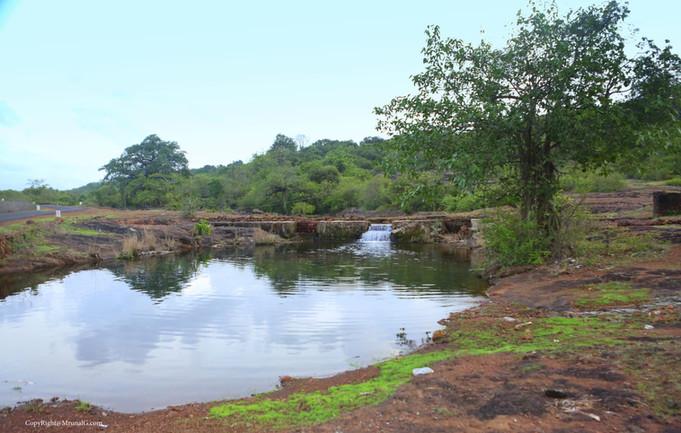 7.37 Water stream next to Vimleshwar temple during monsoon
