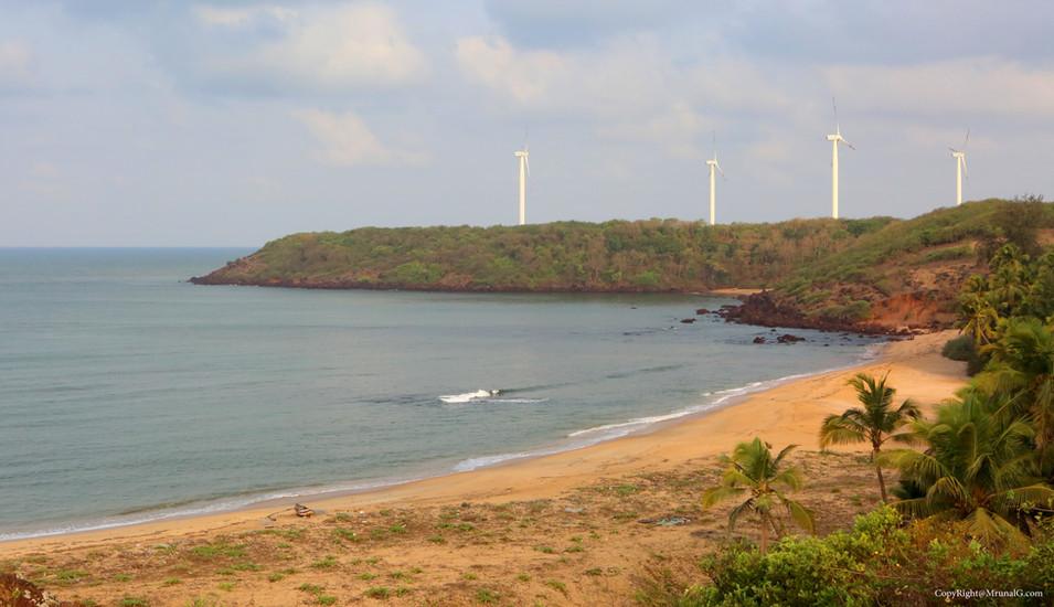 View from the hill next to Taramumbri beach