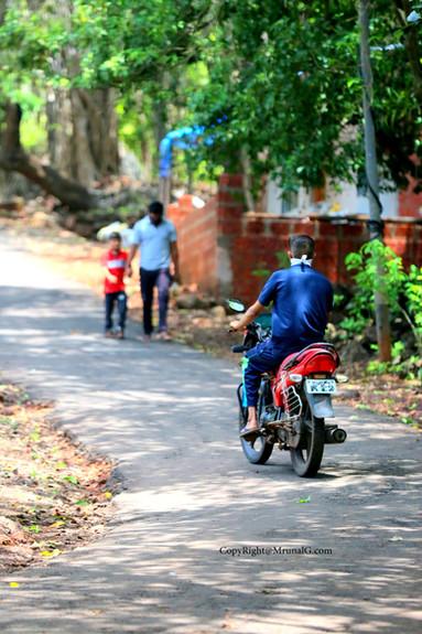 Bike riders in Kokan area