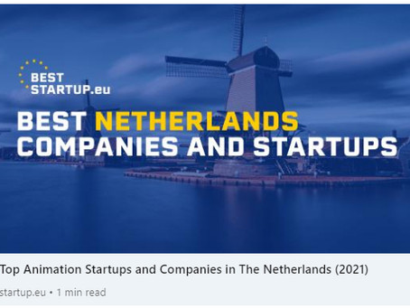HOLOFIL gets mentioned in BestStartup.eu list for animations startup from Netherlands in 2021