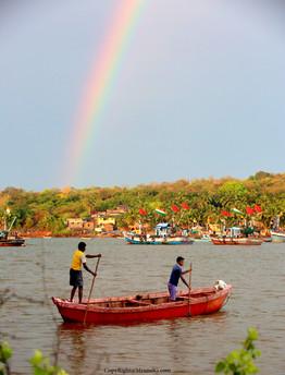 7.15 Devgad port area rainbow