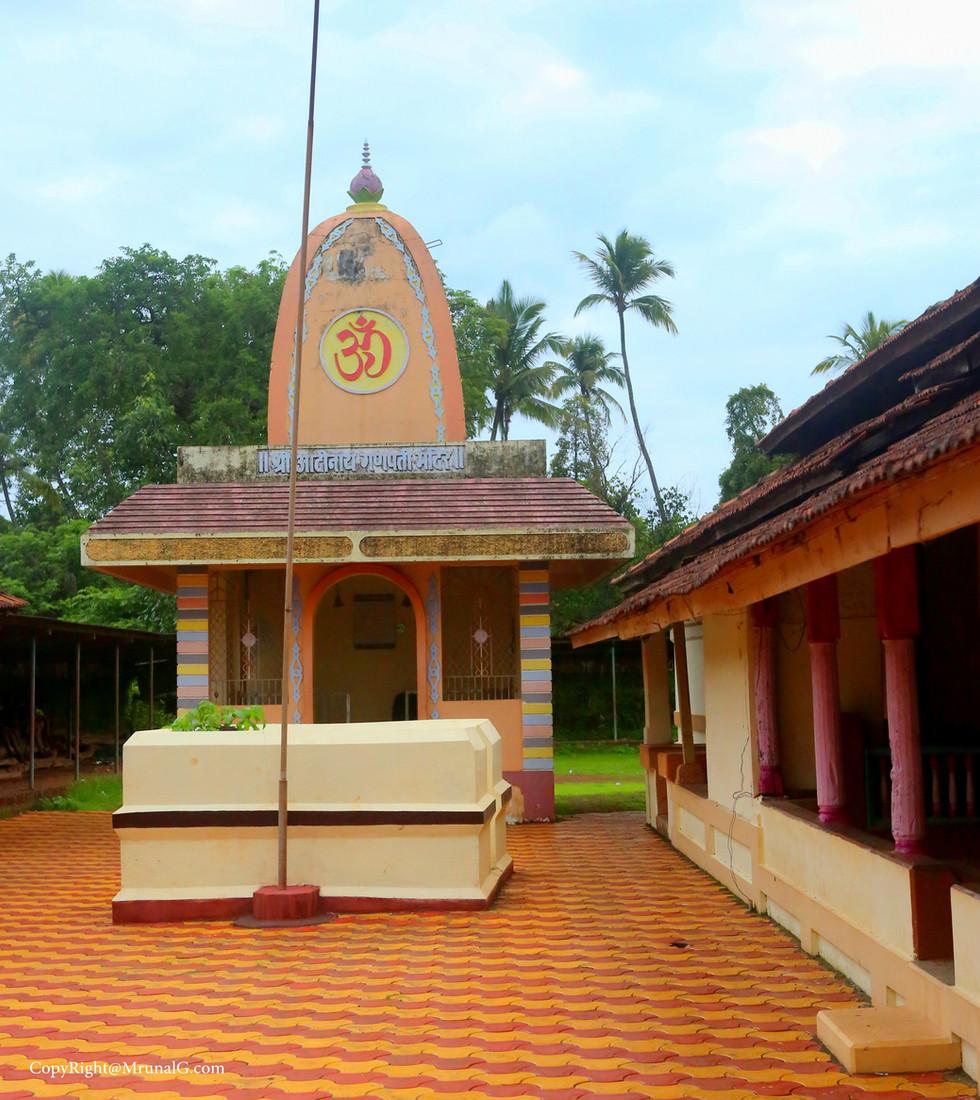 Ganesh temple inside Dirbadevi temple campus Jamsande