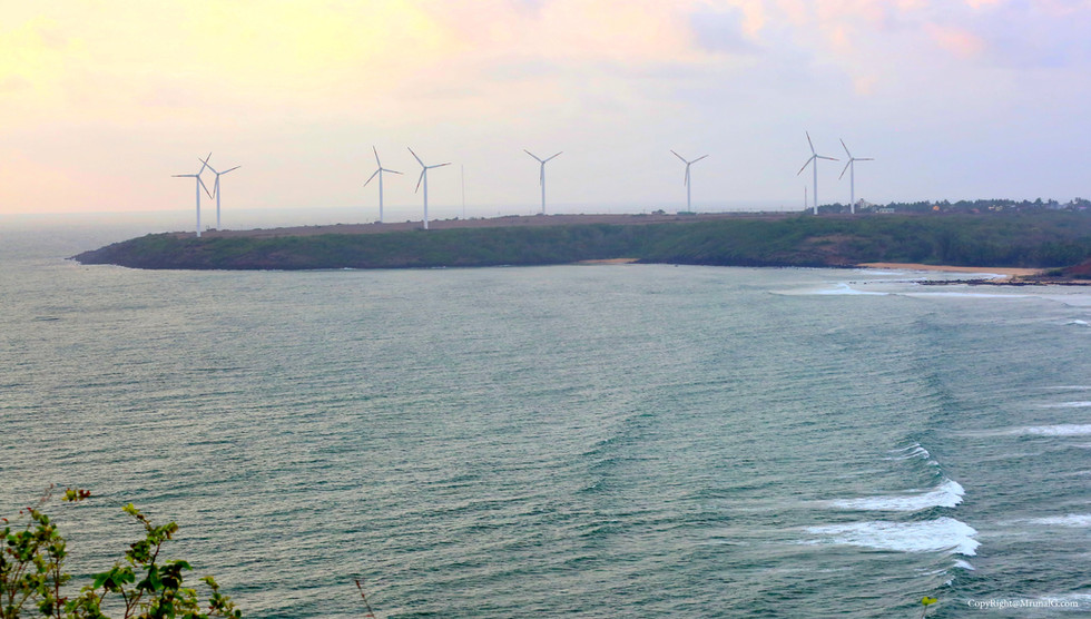 3.12 View of Devgad windmills from the highest hill position next to the Mithmumbri beach