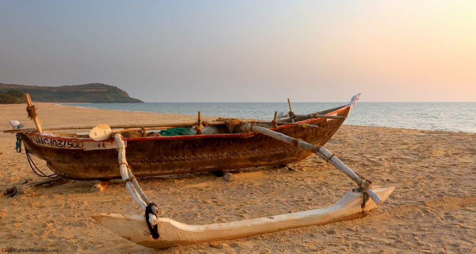 Boat at Kunkeshwar beach