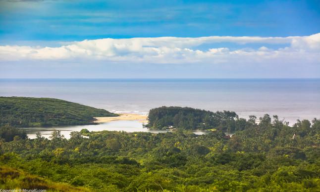 1.35 The Tambaldeg beach around the green cover