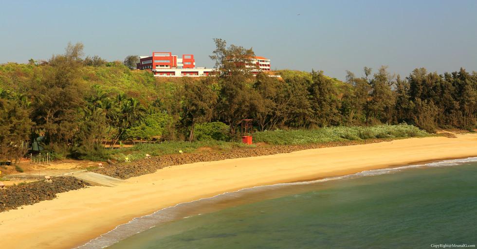 MTDC resort on Tambaldeg beach with breathtaking views of the Arabian sea. Google it to find about it. MTDC Tambaldeg.