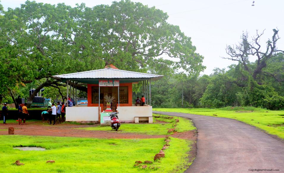Hanuman temple near Dirbadevi temple Jamsande