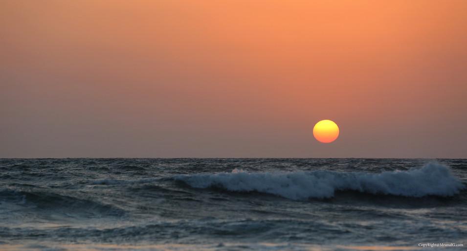 Sunset at the Mithmumbri beach