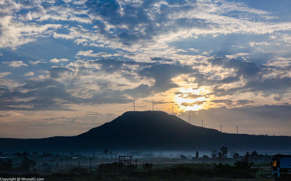 Windmills on Satara hills at Pune Banglore highway