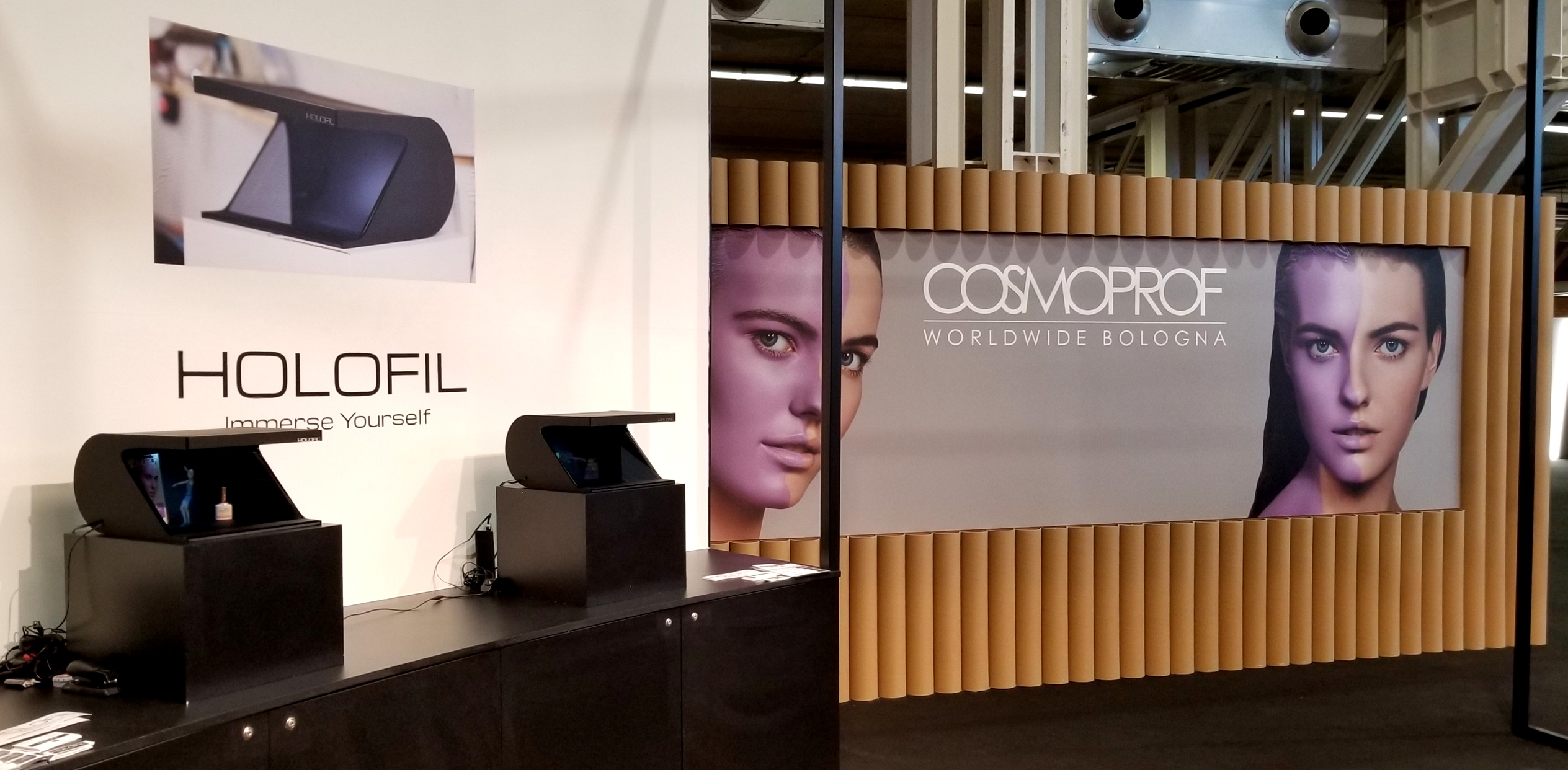 Cosmoprof setup in Bologna, Italy