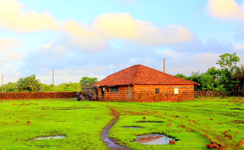 A typical rural Konkani house setting