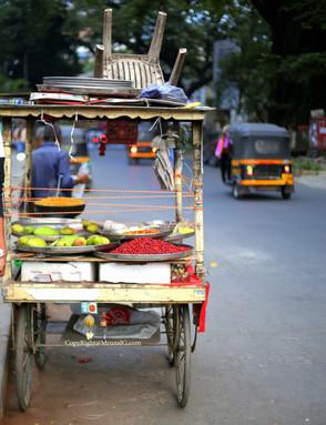 Street food cart on the Jangli Maharaj road