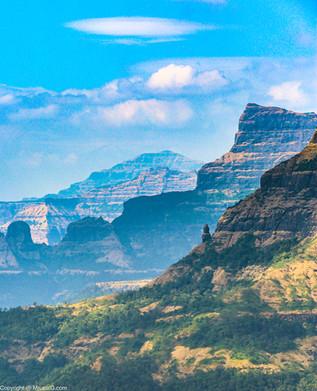 The Sahyadri mountain ranges