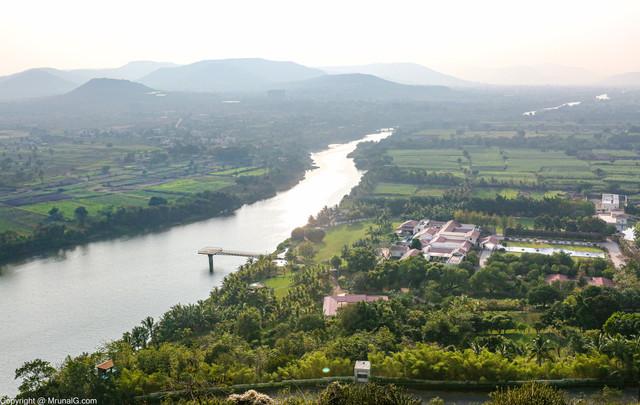 Mula river near a farm house in Chande village