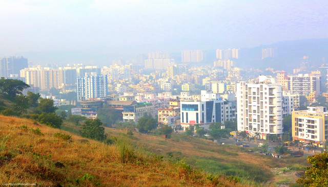 View of Bawdhan from the Bawdhan hills