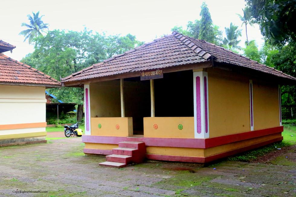 Narayan temple inside Dirbadevi temple campus Jamsande