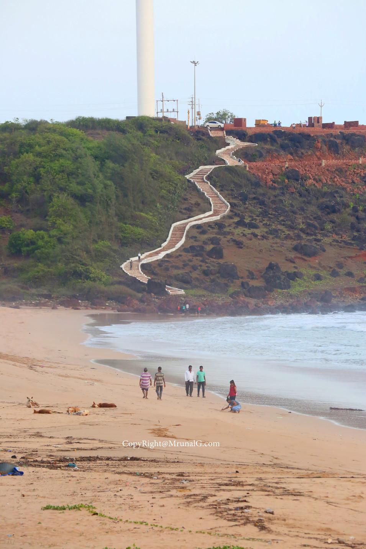 Climb up from the Devgad beach to Devgad windmills