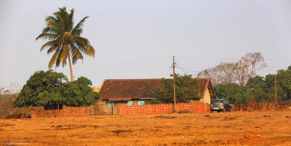 A rural house.