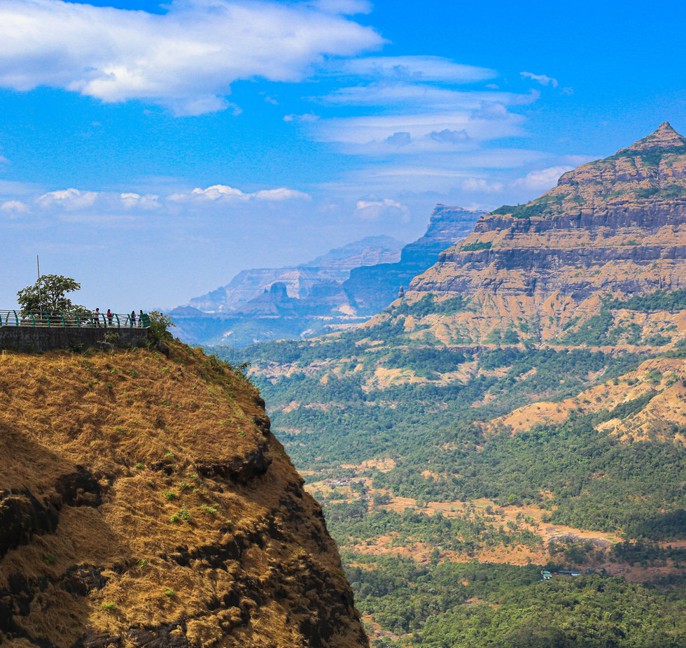 The majestic Sahyadri mountain ranges at the Malshej ghat
