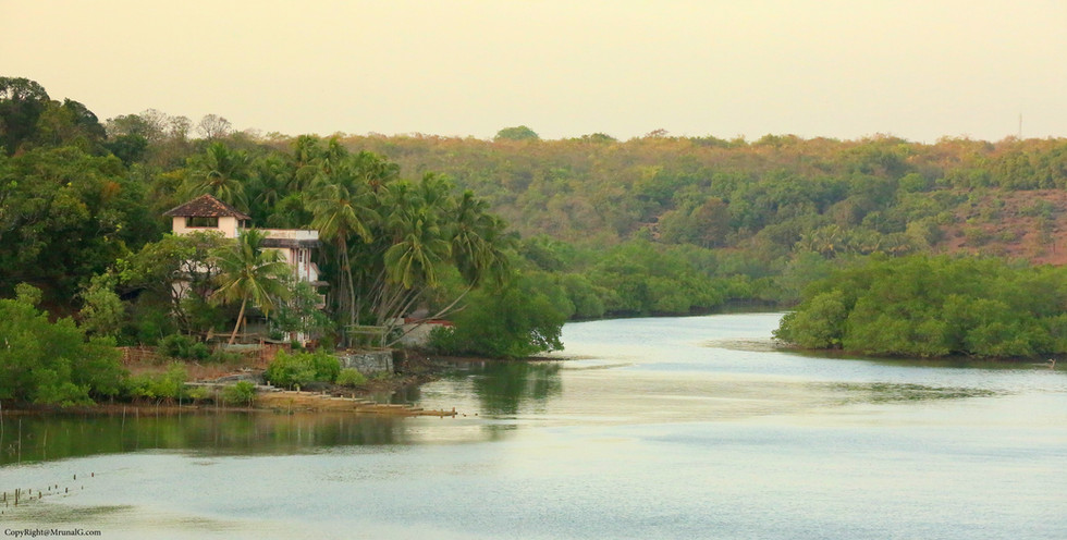 House on the banks of Vadatar creek waters