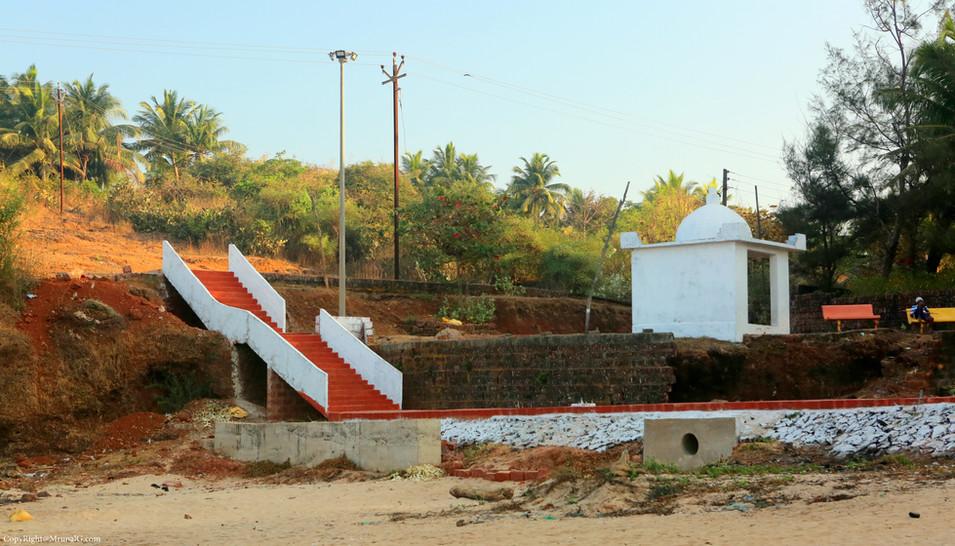Temple at Devgad beach