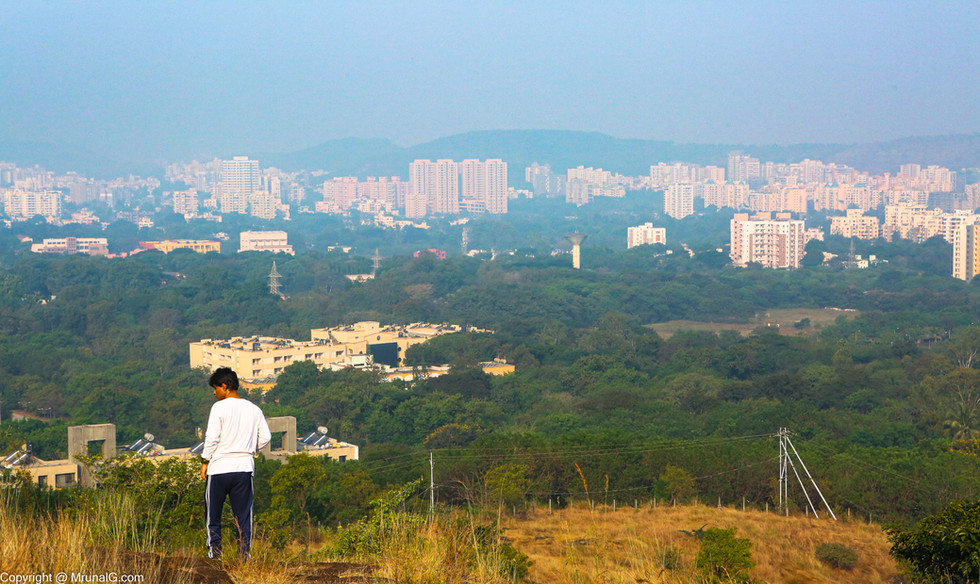 View of Pashan area from the end of the Vetal tekdi