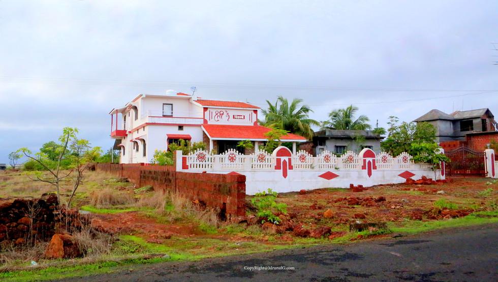 An ultra-modern villa house.