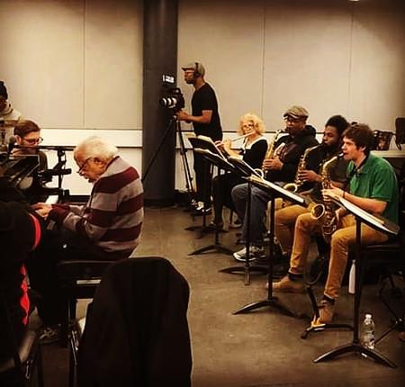 Barry Harris big band rehearsal