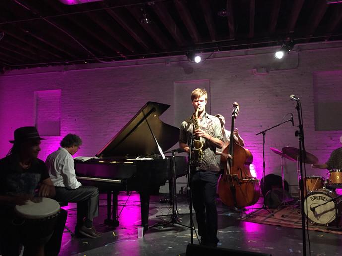 Nick Green Quartet at ShapeShifter Lab ft. Pete Malinverni on piano, Mino Cinélu on percussion