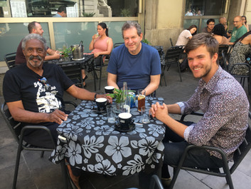 Lunch with Bruce Barth and Charles McPherson, Barcelona