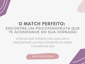 O match perfeito: encontre um psicoterapeuta que te acompanhe em sua jornada!