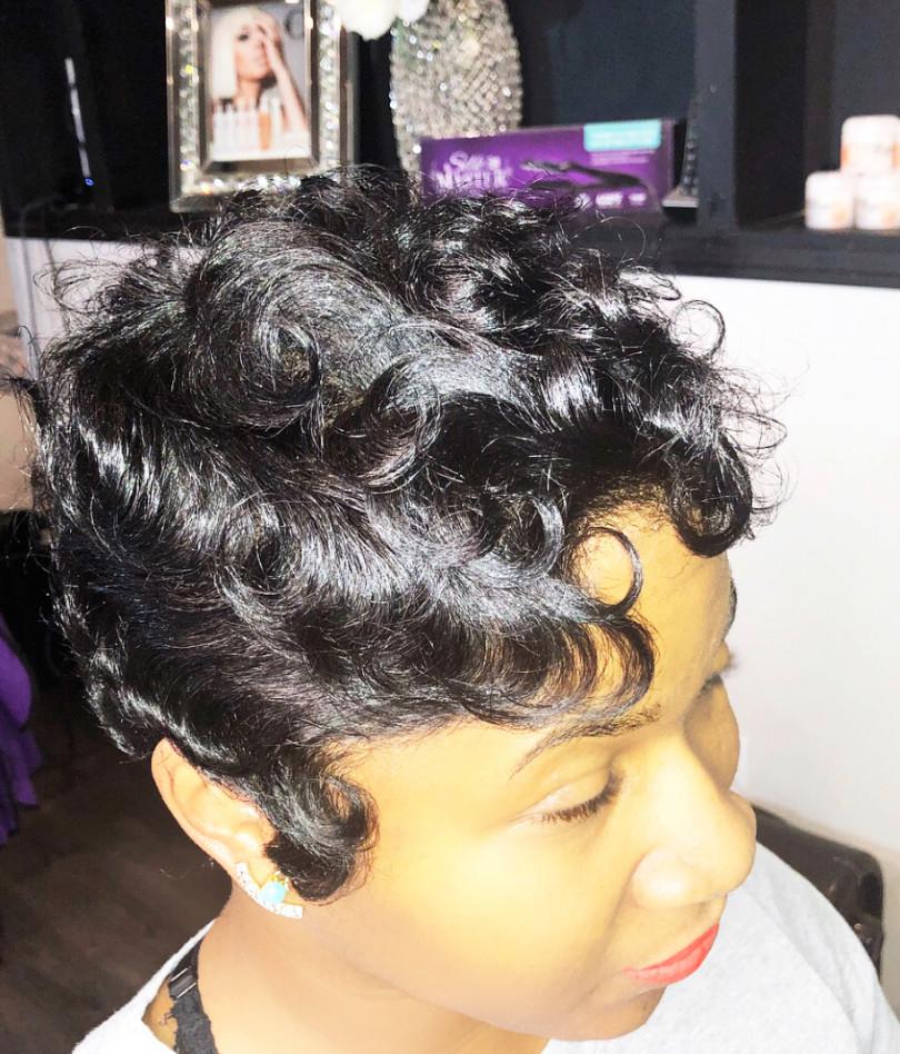 hair by shaunda cass short cut waves