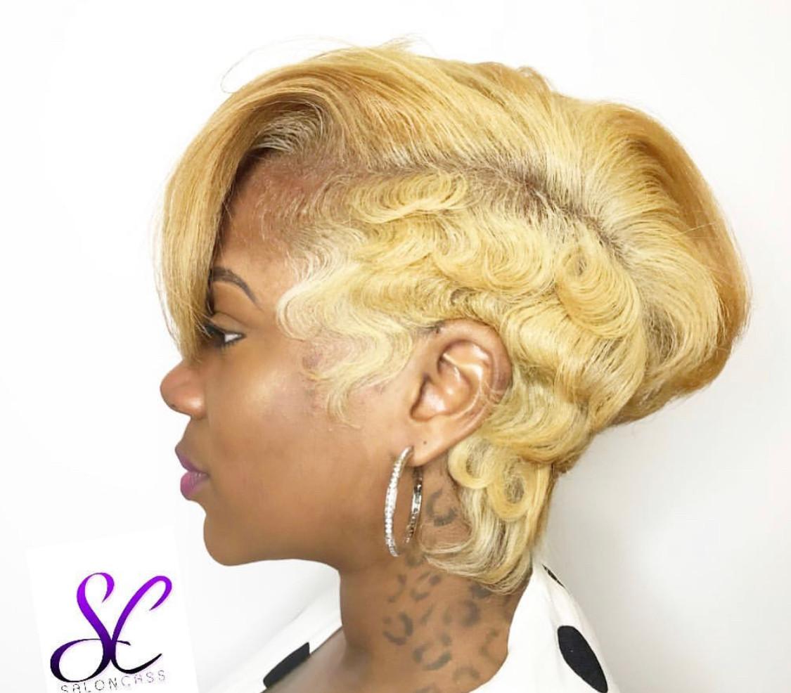 hair by shaunda cass short blonde