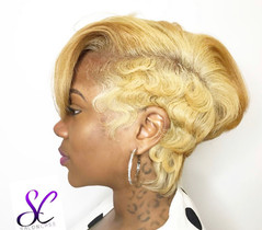 hair by shaunda cass short blonde