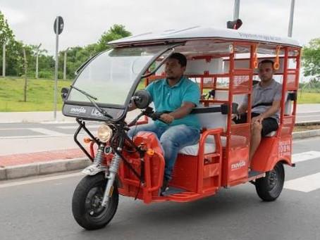 Nova Era dos Apps: Uber e Movida passam a oferecer os Tuk Tuks elétricos como mais um transporte