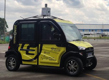 Brasileira Hitech Electric lança carro autônomo elétrico em parceria com a Positivo