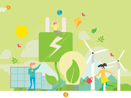 A eletricidade renovável como combustível a veículos elétricos.