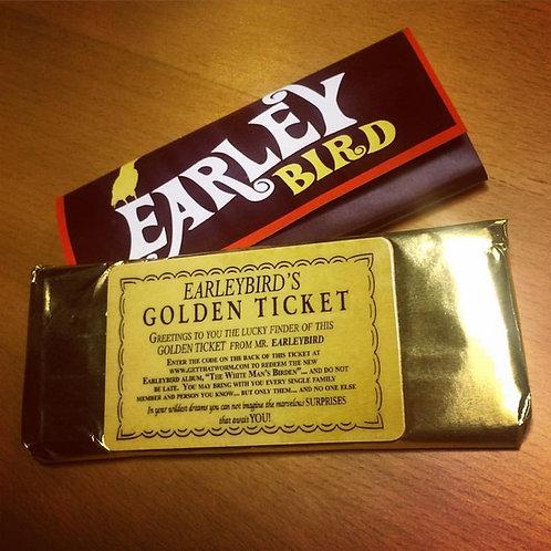"""Earleybird """"Golden Ticket"""" Promotional Candy Bar"""