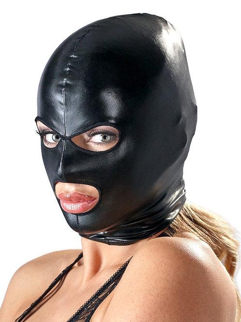 Frau mit Bad Kitty SM Bondage Maske hochglanz Wetlook