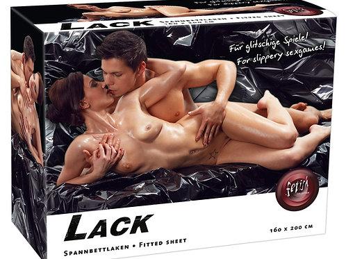 Spannbettlacken Lack in schwarz