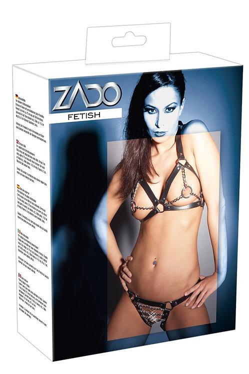 Verpackung vom Zado Fetish Leder Ketten Bikini