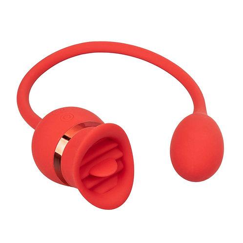 French Kiss Vibrator von Calexotics in rot