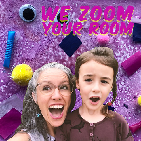 Virtual Backgrounds from WE ZOOM YOUR ROOM, by Frankie Martin and Forest DerrMartin of Pumpernickel Palace