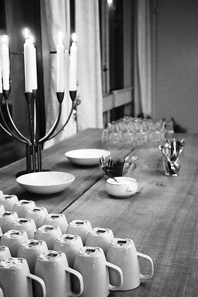 Kaffebord til møder på Restaurant Pilen