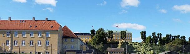 Udsigt til Frederiksberg Slot fra Restaurant Pilen