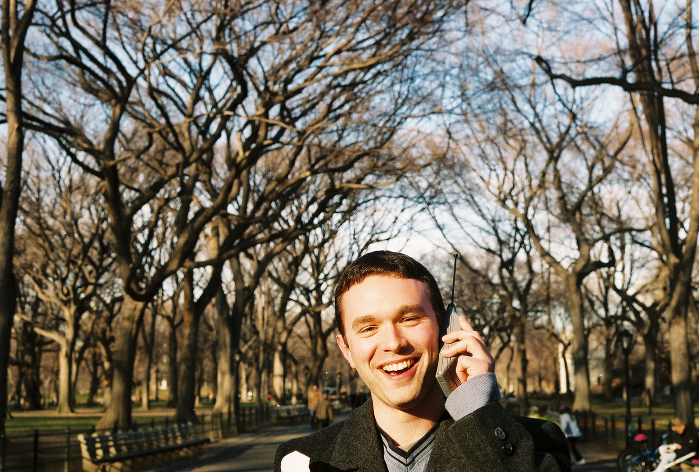 First cell phone call in Central Park, 2002