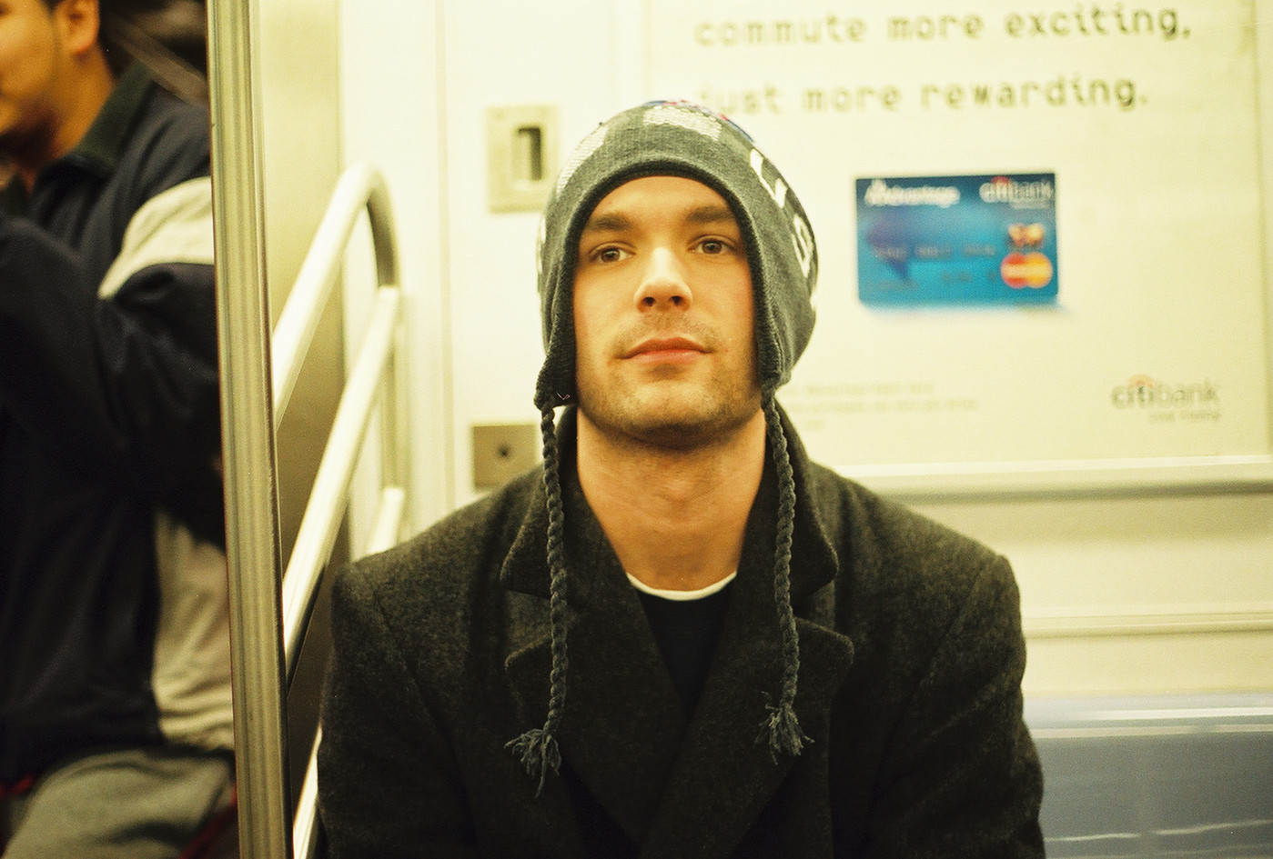 First subway ride, 2002